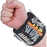Flybiz Bracelet Magnétique Réglable Avec 15 Puissants Aimants, Bracelet pour Vis, Clous, Mèches De Perceuse et Petites Pièces