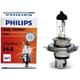 Philips Rally 12569RAC1 P43T H4 Bulb (12V,100/90W,Set of 2)