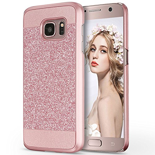 Galaxy S7 Hülle, Imikoko™ Luxus Bling Hardcase Strass Glitzer Schutzhülle Hülle Handyhülle Etui Case Für Samsung Galaxy S7