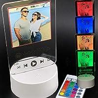 Lampada led personalizzata con foto e codice spotify multicolore placca tarda con dedica della canzone