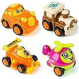 MOOKLIN ROAM 4pcs Auto Giocattolo Macchinine, Wheels Set Macchinine, Auto da Corsa, Mini Tirare Indietro Autos, Veicoli Regal