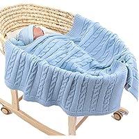 Coperta Bimbo in Maglia per bambino, Odot Soffice Dormire di Coperta Unisex Neonato Attività all'aperto Morbida Swaddle…