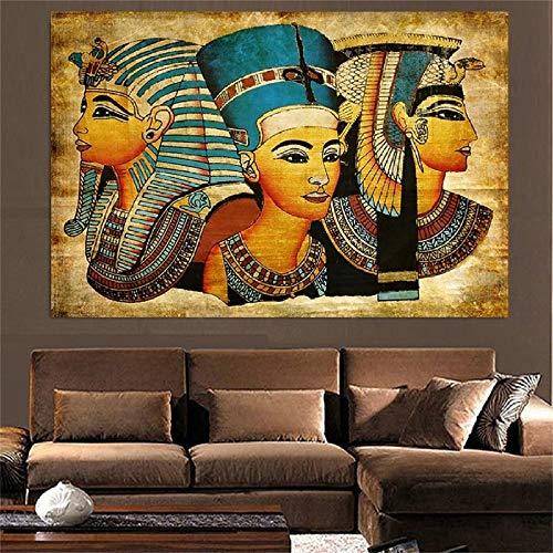 NIMCG Stile Vintage Poster Vintage Africa Donne antiche Pittura su Tela Poster e Stampe Immagini a Parete per Soggiorno Oggettistica per la casa Stampa Artistica (Senza Cornice) A1 50x70 CM