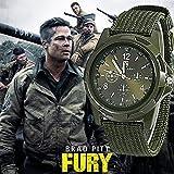 Orologio da polso, sportivo stile soldato militare esercito tela cintura...