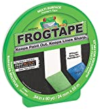 Frog Tape 82011 Pro Painter's Masking Tape, 1-Inch by 60-Yards, Green, Single Roll by FrogTape