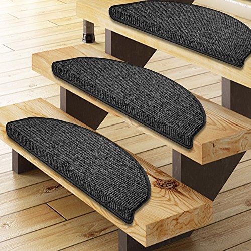 Floordirekt Stufenmatten Berlin in 3 Farben , Made in Germany (Schwarz-Grau)
