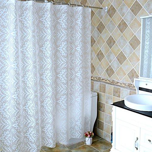 BYLE Los cuartos de baño son resistente al agua, resistente a la humedad de tela de la cortina de ducha ducha con mampara de ducha CORTINA cortina CORTINA cortina ventana enmascarar 180W*180Alto+Ring