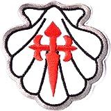 Parche / insignia concha de vieira jacobea y Cruz de Santiago
