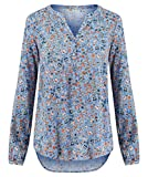 SOYACONCEPT Damen Bluse Nazir Loose Fit Langarm bleu (50) L