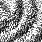 LORENZO CANA Kaschmir-Decke Wohndecke Decke 100% reines Kaschmir handgewebt Sofadecke Kaschmirdecke Wolldecke Creme Schwarz 96175