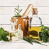 Artland Qualitätsbilder I Wandtattoo Wandsticker Wandaufkleber 50 x 50 cm Stillleben Arrangements Lebensmittel Foto Weiß A7ES Olivenöl und Kräuter Küche