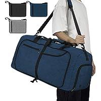 NEWHEY Reisetasche Groß 40L 65L 80L 100L Faltbare Reisetaschen Leichte Sporttasche für männer mit Schuhfach für…