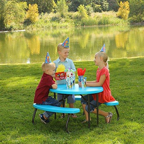 Lebenslange Kinder Oval Klappbarer Picknick Tisch
