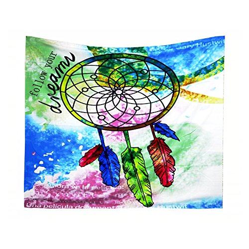 Wonque tapiz atrapasueños sigue a tu sueño, manta para colgar en la pared suave para decoración de dormitorio, toalla de playa, camino de mesa para decoración del hogar, 1 unidad
