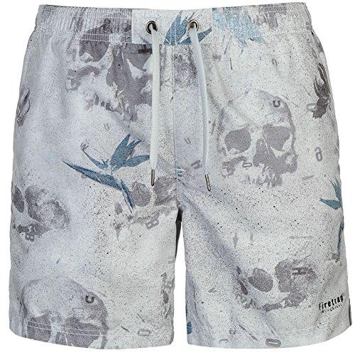 Firetrap Blackseal Herren Floral Badeshorts Schwimmshorts Shorts Muster Blau