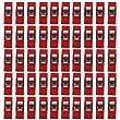 Demarkt 50pcs Naehen Kunst Decke Verbindlich Kunststoff Clips Schellen Klar Und Rot
