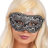 CARNIVAL TOYS S.R.L. Carnival 00871–Luxus Damast Maske, mit Lenkerklemmung, aus Kunststoff, Schwarz/Gold