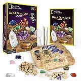 NATIONAL GEOGRAPHIC Mega Gemstone Dig Kit – Excavate 15 Real gems