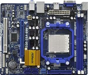 Asrock  N68-VS3 UCC Mainboard  (AM3 Sockel, 16x PCIe, Mikro-ATX)