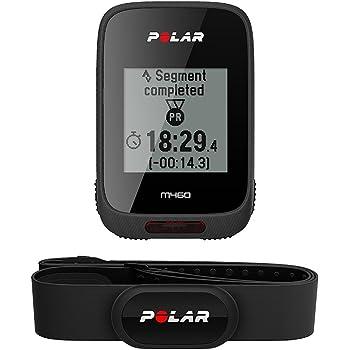 Polar M460 Hr, Bike Ciclocomputer con GPS Integrato e Fascia Cardio H10 Misura M-XXL: 65-93 cm, Nero
