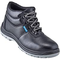Neosafe A7025_5 Helix, High Ankle Black Safety Shoes with Steel Toe, Size 5