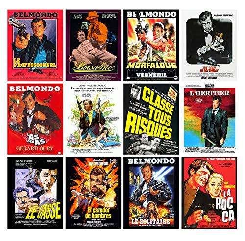 Calendrier mural 2020 [12 pages 20x30cm] Jean Paul Belmondo Film Affiche Vintage