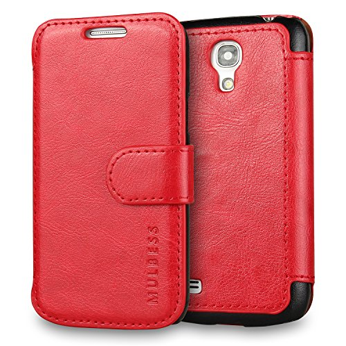Mulbess Samsung Galaxy S4 Mini hülle Wein Rot,Ledertasche für Samsung Galaxy S4 Mini Tasche Leder