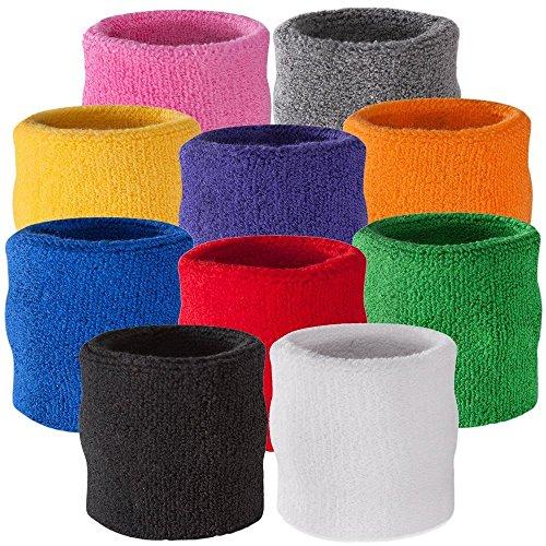 Suddora Handgelenk Schweißband, Baumwoll-Frottee, für Sport, grün
