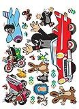 1art1 91458 Der Kleine Maulwurf - Traveling Wand-Tattoo Aufkleber Poster-Sticker 85 x 65 cm