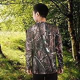 VGEBY Camouflage T-Shirt Langarm atmungsaktiv Sweatshirt Dschungel Baum Kleidung für Camping Jagd Outdoor-Aktivitäten(XL) Test