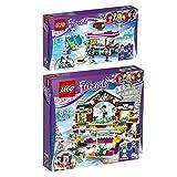 LEGO City Set en 2 parties 41319 41322 Le Marchand de Chocolat Chaud de la Station de Ski + La patinoire de la station de ski...
