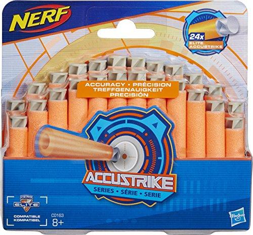 HASBRO Nerf c0163eu4accust–Correpasillos Dart recambios, Juguete Blaster accesorios, 24unidades)