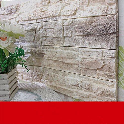 Preisvergleich Produktbild JAYSK 3d Wall Sticker TV Tapete Selbstklebende wasserdichte Wände Wohnzimmer, Schlafzimmer Tapete Aufkleber, Self-brick Muster grau B