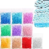 Fishbowl Slime Beads,Simuer 10 Pack Plastic Fish bowl Beads 7mm/0.28inch Clear...