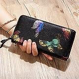 OME&QIUMEI Damen Geldbörse Zipper Wallet Wallet Card Drucken Großer Kapazität (20 Cm * 10 Cm * 3 Cm), Schmetterling