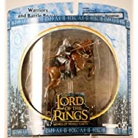 2003 - New Line / Play Along - Lord of the Rings : Armies of Middle Earth - Gondorian Horseman (Rearing Horse) - Warriors & Battle Beasts - Battle Scale Figures - Rare - Out of Production - Limited Edition - Collectible