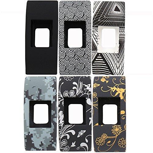 Preisvergleich Produktbild Woodln Ersatzband Armband Zubehör Sleeve Band Cover Fälle Für Fitbit Charge 2 Smart Watch Case Cover Stoßstange-Abdeckung (6pcs Black Color)