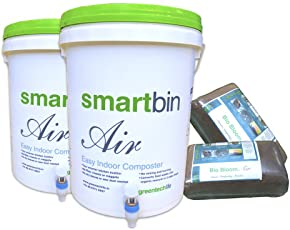 GreenTech Life Smart Bin Air/ Compost Bin Set - (20L X2)