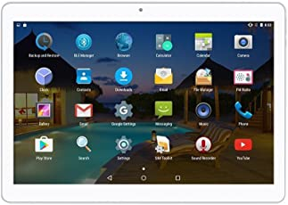 Android Tablet 10 Zoll 3G entsperrt Phablet Octa Core Android 6.0 mit Dual-SIM-Kartensteckplatz 2 GB RAM 32 GB ROM Built-in WiFi Bluetooth GPS Netflix YouTube (Silber)