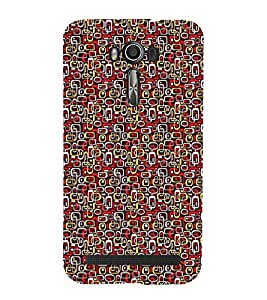 Fuson Designer Back Case Cover for Asus Zenfone 2 Laser ZE550KL (5.5 Inches) (Red Yellow Grey White Black)