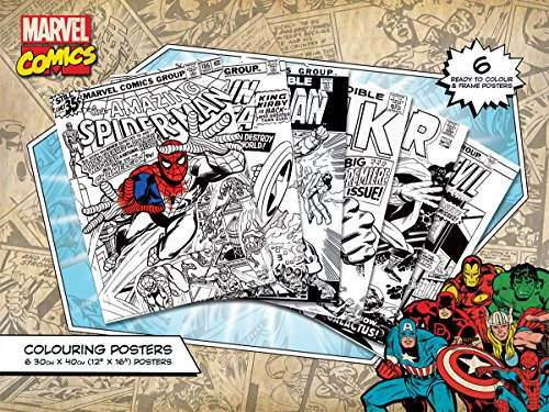 Marvel-Retro-Comics-Colouring-Poster-zum-Ausmalen-6er-Pack-30x-40cm-gro