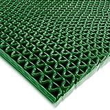 Hygienematte Anti-Slip | viele Größen | stark rutschhemmend | für Nassbereiche wie Schwimmbäder Duschräume Sauna | Grün Größe 90 x 100 cm