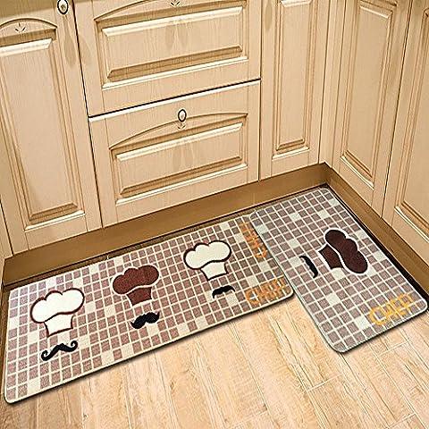 CrazySell Design Teiera stampa Tappeto, unico stanza tappeto tappeto moderno di tappeti, cucina bagno porta finestra a golfo Chef Hat 20''*47'' (50*120CM)