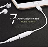 #8: Brobeat 8pin To 3.5mm Headphone Female Audio Jack Adapter For iPhone 7/ 7 Plus Audio Jack Converter OTG Aux Cable Female Audio Jack Headphone Cable Converter. (White)
