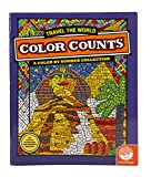 """MindWare - Color Counts Travel the World - 11 Unique Puzzles With Up To 10 Color Directions - Teaches Creativity and Fosters Imagination - Includes 10"""" x 15"""" Fold-Out Designs"""