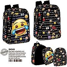 Perona 54240 Emoji Mochila escolar, 43 cm, Multicolor