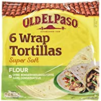Old El Paso Wrap Tortillas Super Soft Flour, 6 Stück, 350 g