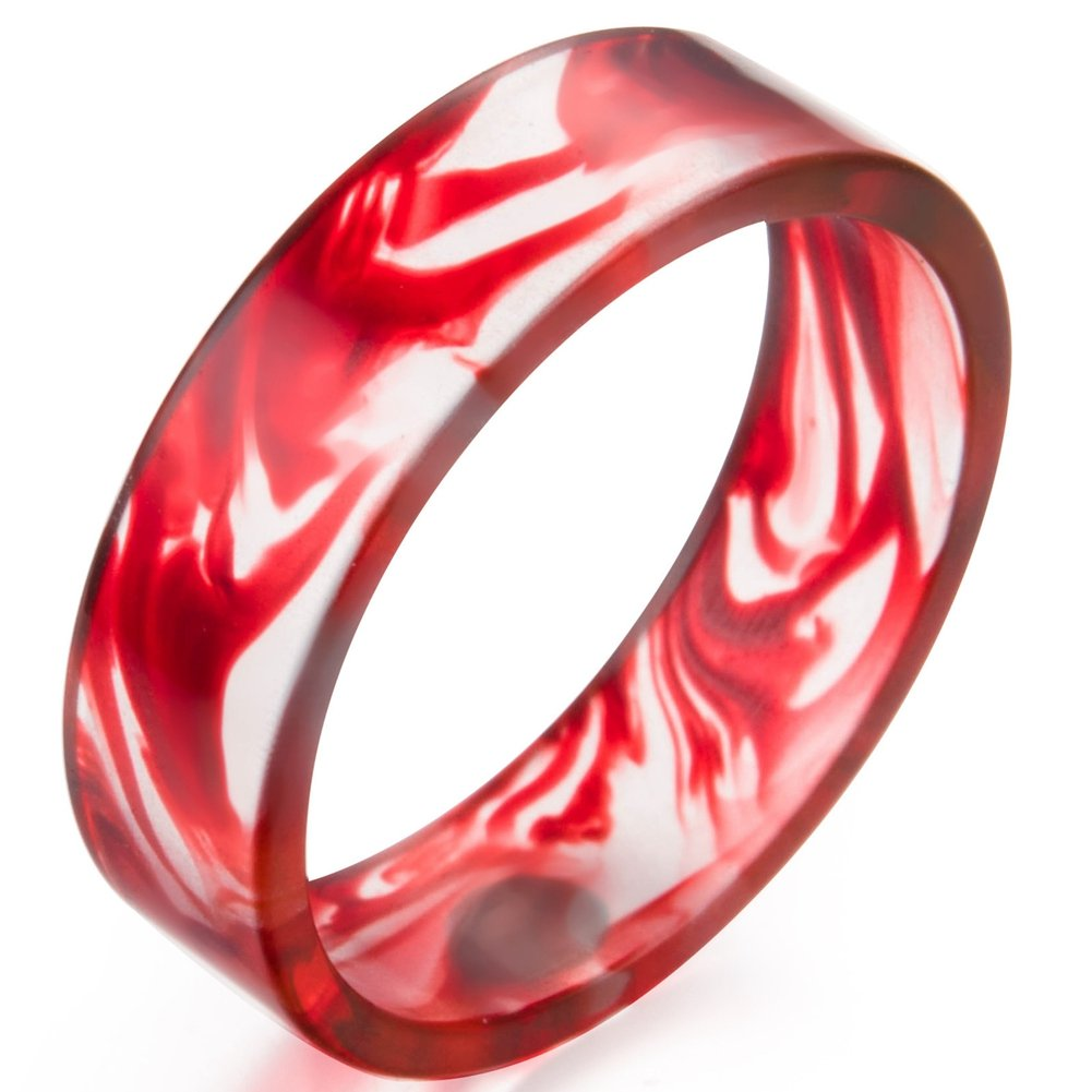 Jude Jewelers 8mm Transparent Plastic Resin Band Style Ring