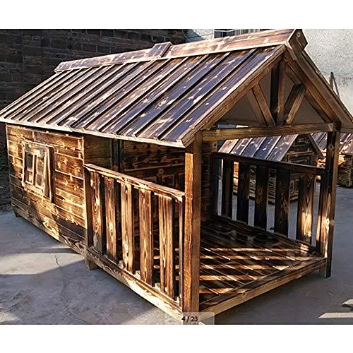 Solid Wood Pet Dog Dog Dog House Kennel Wooden House Large Dog Golden Retriever VIP Su Mu Outdoor Cabin Geeignet Für Medium Und Kleine Hunde -