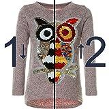BEZLIT Mädchen Pullover Pulli Wende-Pailletten Sweatshirt Vogel Motiv 21601 Rosa Größe 140 Vergleich